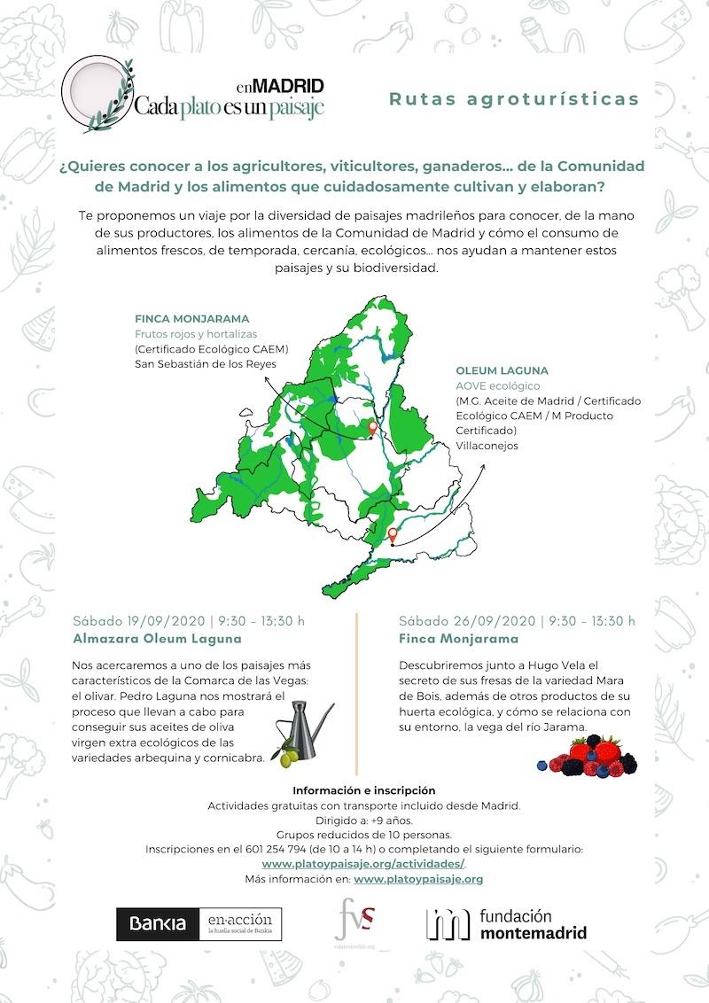 Cartel rutas agroturísticas web