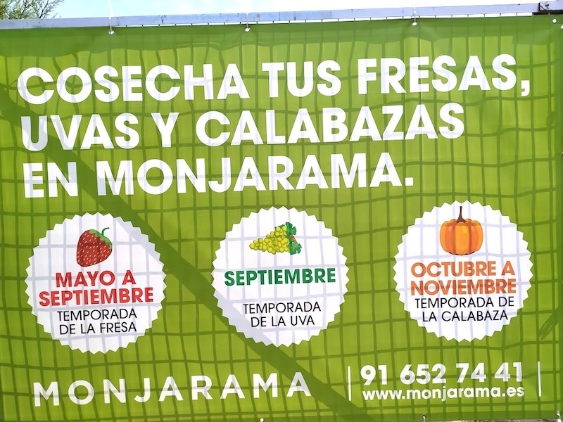 Cartel de cosecha de Finca Monjarama