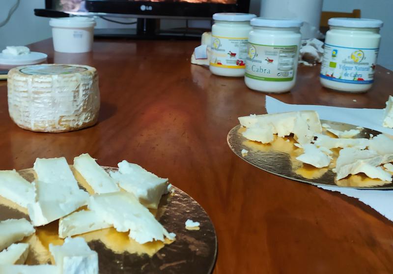 Degustación de lácteos en Suerte Ampanera